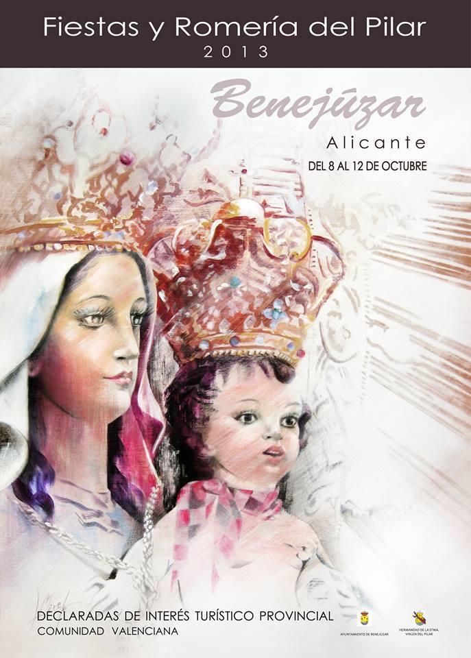 Cartel anunciador Fiestas y Romería del Pilar 2013