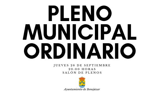 pleno municipal ordinario