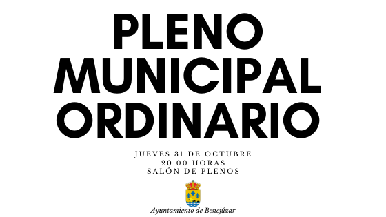 BENEJÚZAR pleno municipal ordinario