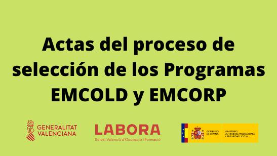 Actas de contratación de programas EMCOLD y EMCORP (1)