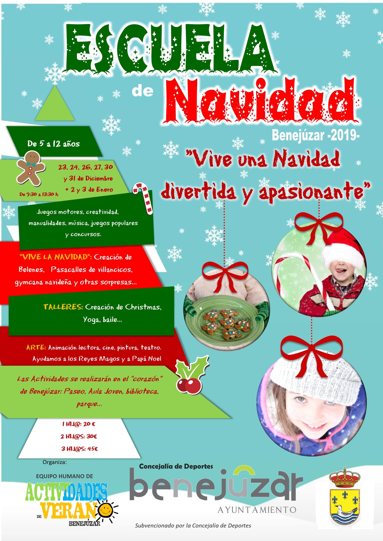 Cartel Escuela Navidad Benejúzar