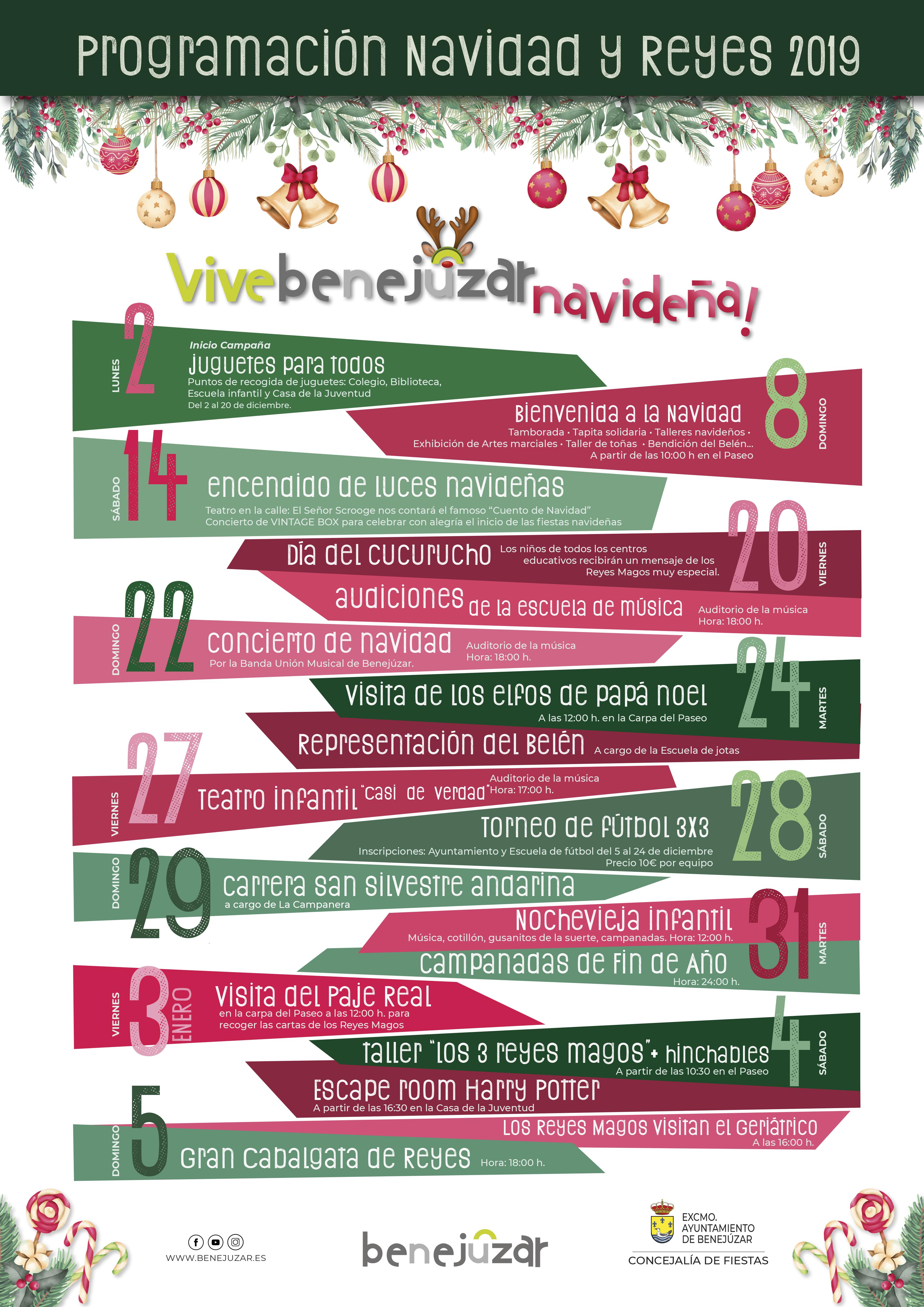 Cartel programación Navidad Benejúzar