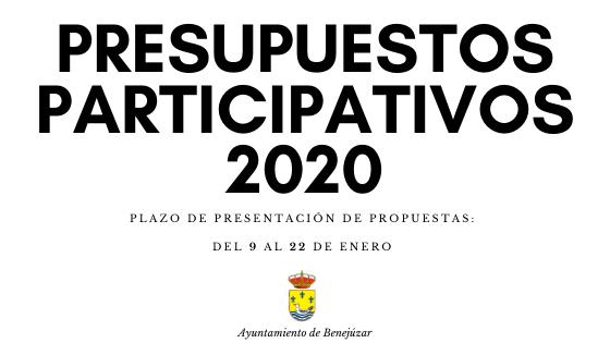 BENEJÚZAR presuuestos participativos 2020
