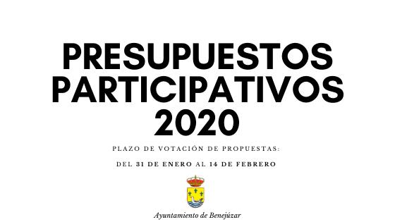 Presupuestos participativos 2020 votación