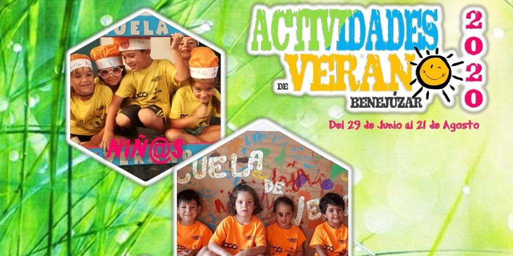 Benejúzar Escuela de verano header 2020