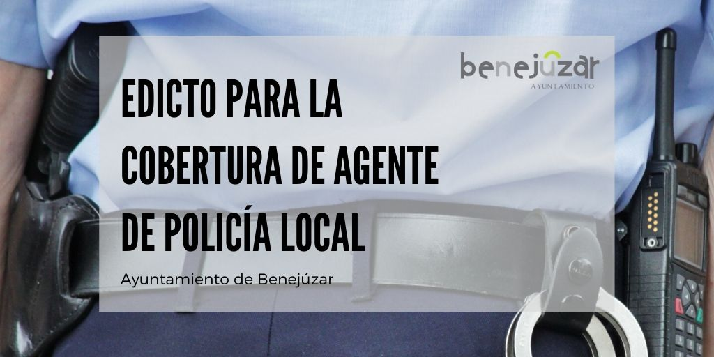 edicto para la cobertura de agente de policía local (1)