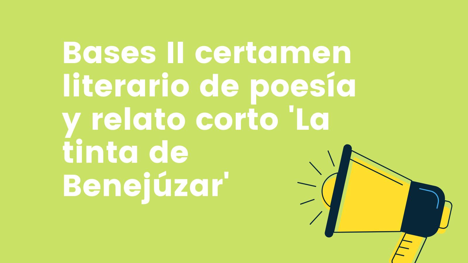 Bases II concurso literario de Benejúzar