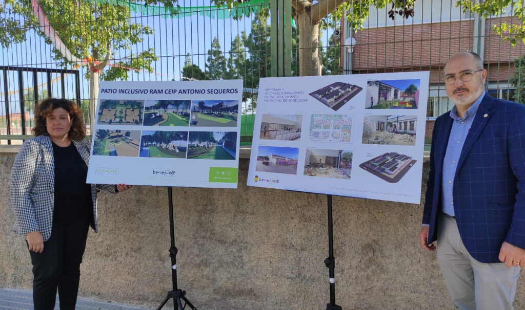 La edil de Educación y el alcalde